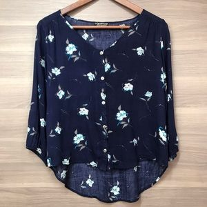 Papermoon Elmer Button Front Floral Top